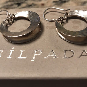 Silpada Jewelry - Silpada Sterling Silver Broad Hoop Earrings  W3494